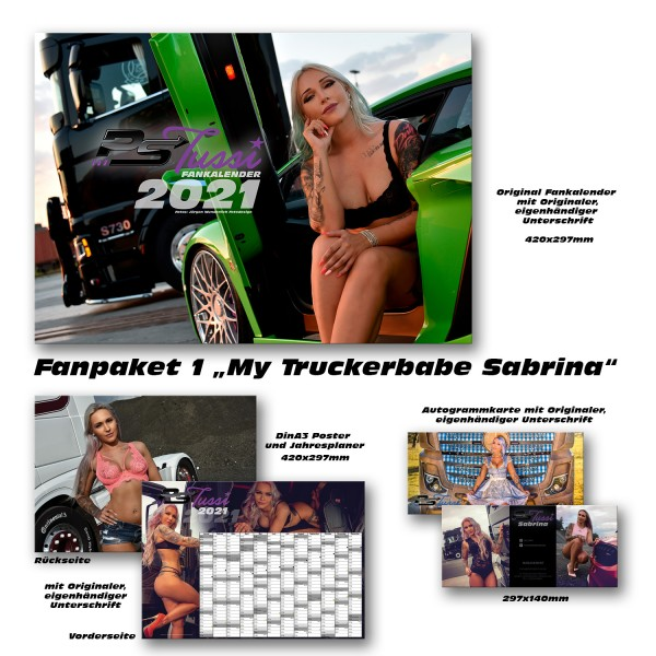 """Fanpaket 1 """"My Truckerbabe Sabrina"""" 2021 limitiert!"""