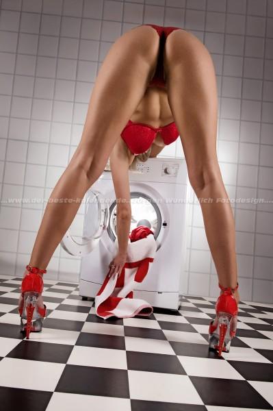 Erotisches Waschmaschinen Poster