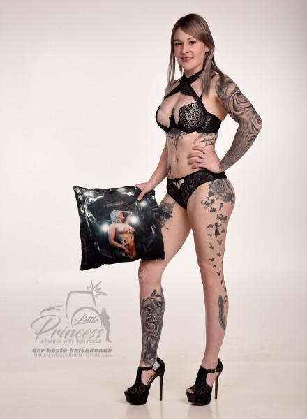Fan Kissen 40 x 40 cm - LittlePrincess Hedi Motiv WALD